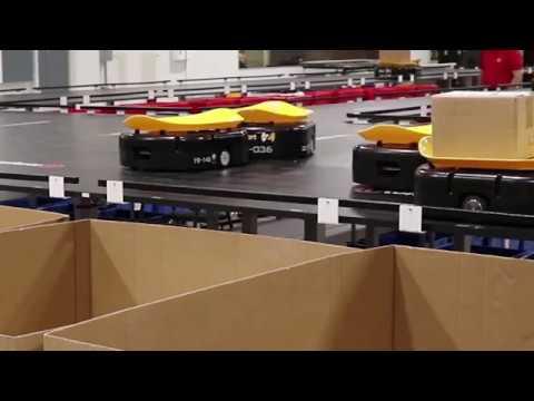 Tompkins Robotics t-Sort Robotic Unit and Parcel Sortation System