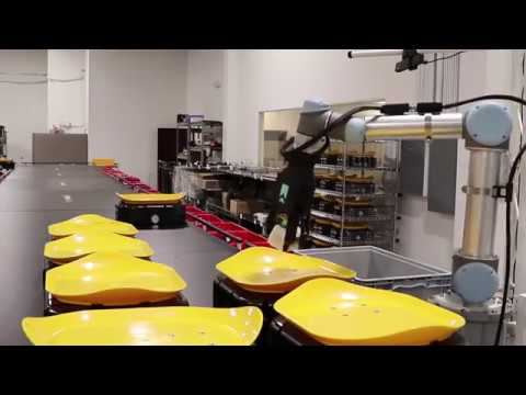 Tompkins Robotics t-Sort Robotic Unit and Parcel Sortation System with Robotic Induction